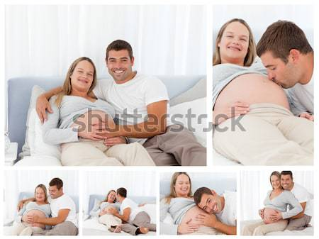 Family lying down in their bed at home Stock photo © wavebreak_media