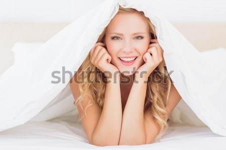портрет тихий женщину камеры стороны Сток-фото © wavebreak_media