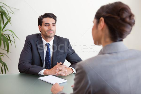 Przystojny kierownik kobiet wnioskodawca biuro działalności Zdjęcia stock © wavebreak_media