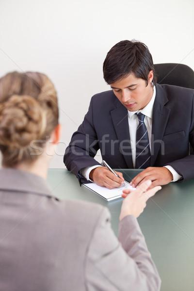 Retrato guapo gerente femenino solicitante oficina Foto stock © wavebreak_media