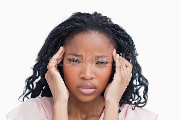 голову выстрел мигрень головная боль изолированный Сток-фото © wavebreak_media
