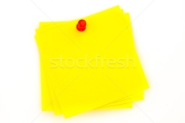 Sticky note with red  pushpin against a white background Stock photo © wavebreak_media