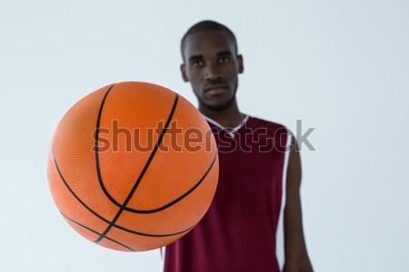 Portret gelukkig jonge man basketbal witte Stockfoto © wavebreak_media