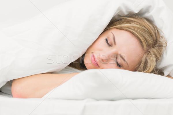 красивой спальный кровать домой Сток-фото © wavebreak_media
