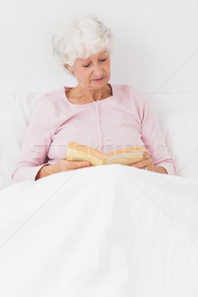 Kobieta czytania bed domu kobiet Zdjęcia stock © wavebreak_media