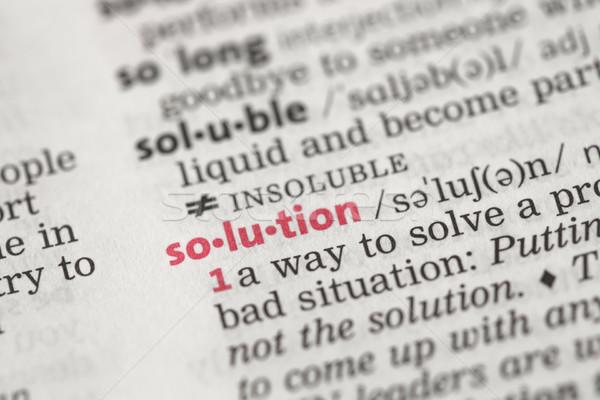 Meghatározás megoldás szótár fekete információ ötlet Stock fotó © wavebreak_media
