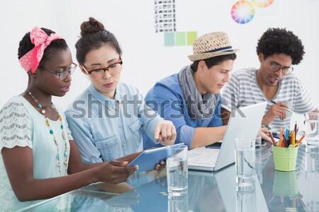 Creative team having brainstorming session Stock photo © wavebreak_media