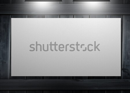 White copy space poster hung on a wall Stock photo © wavebreak_media