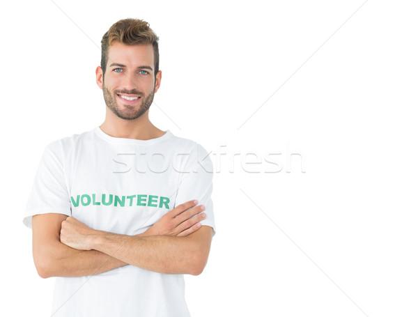 Portre mutlu erkek gönüllü ayakta eller Stok fotoğraf © wavebreak_media