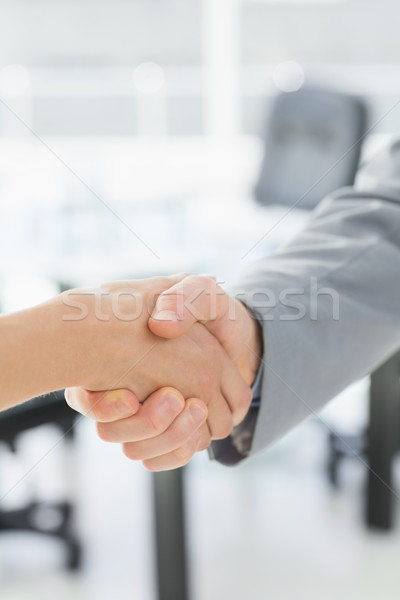 Closeup of shaking hands after business meeting Stock photo © wavebreak_media