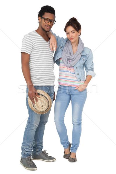 Full length portrait of a smiling cool couple Stock photo © wavebreak_media