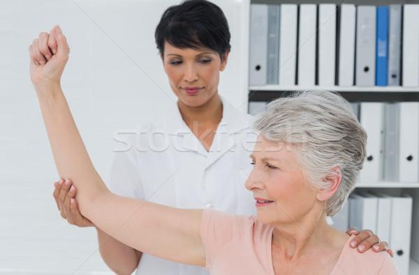 Senior mulher mão feminino médico escritório Foto stock © wavebreak_media