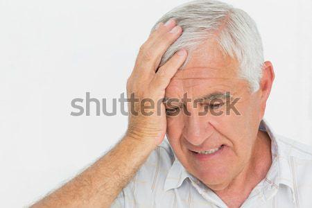 Bezorgd senior man witte gezicht Stockfoto © wavebreak_media