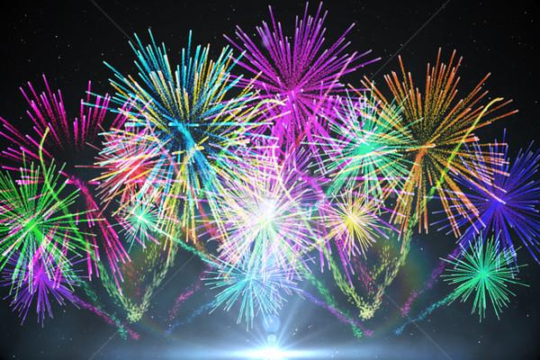 Digitally generated firework design Stock photo © wavebreak_media