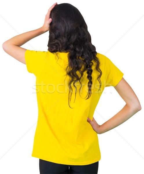 Deluso calcio fan tshirt bianco Foto d'archivio © wavebreak_media