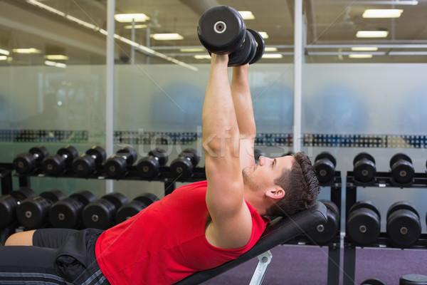 Testépítő pad emel súlyzók tornaterem klub Stock fotó © wavebreak_media