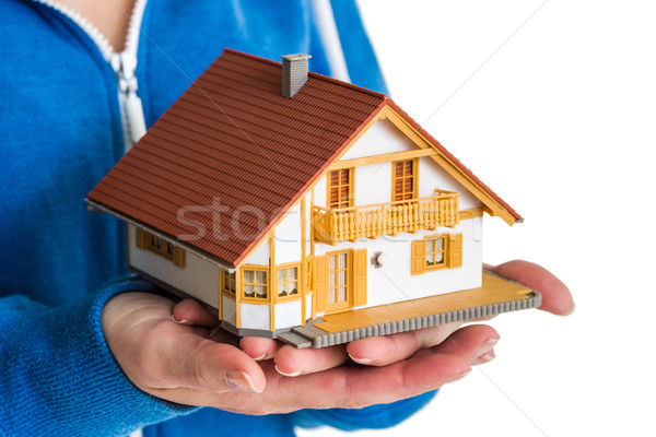 Mani miniatura casa modello primo piano Foto d'archivio © wavebreak_media