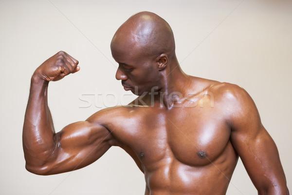 Póló nélkül izmos férfi izmok fiatal fehér Stock fotó © wavebreak_media