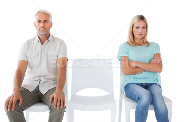 Stock photo: Unhappy couple not speaking to each other