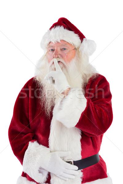 Santa asking for quiet to camera Stock photo © wavebreak_media