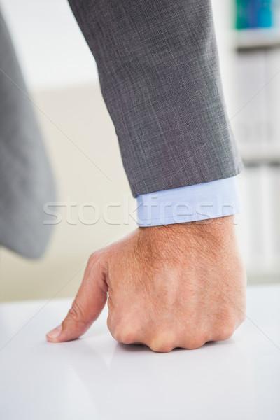 こぶし デスク オフィス スーツ プロ 上司 ストックフォト © wavebreak_media