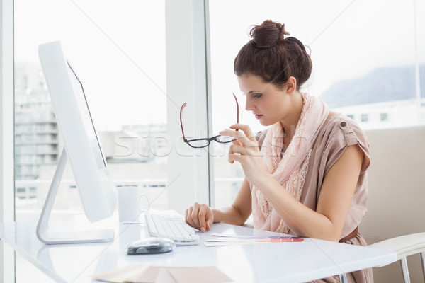 Serious businesswoman working with colour wheel Stock photo © wavebreak_media