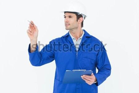 Felügyelő tart clipboard jóképű fehér férfi Stock fotó © wavebreak_media