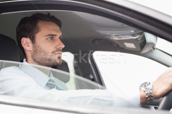 Jovem empresário assento carro negócio janela Foto stock © wavebreak_media