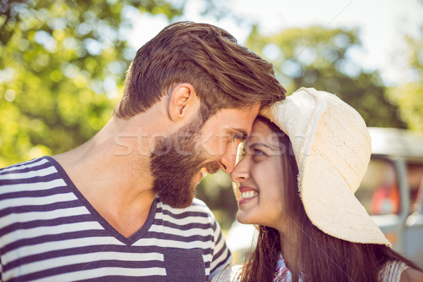 Hipster couple smiling at each other Stock photo © wavebreak_media