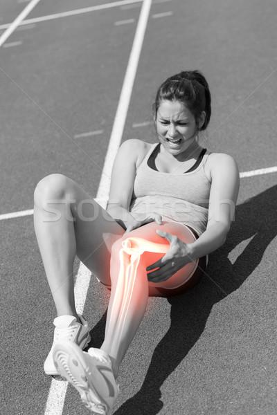 Botten gewond runner digitale composiet sport lichaam Stockfoto © wavebreak_media