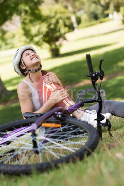 Highlighted bones of injured cyclist  Stock photo © wavebreak_media