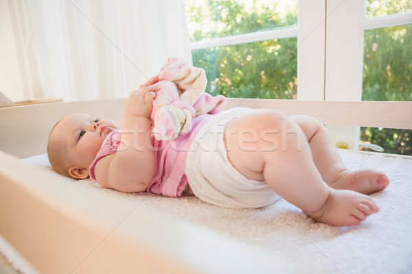 Beautiful cute baby girl in her crib  Stock photo © wavebreak_media