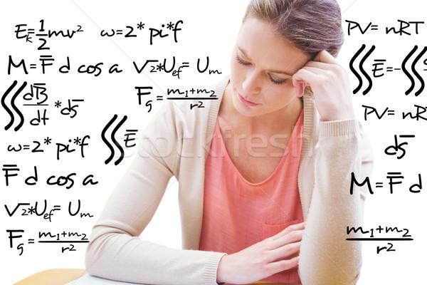 összetett kép diák tanul matematika egyenlet Stock fotó © wavebreak_media