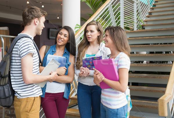 Sorridere studenti insieme fuori Università Foto d'archivio © wavebreak_media