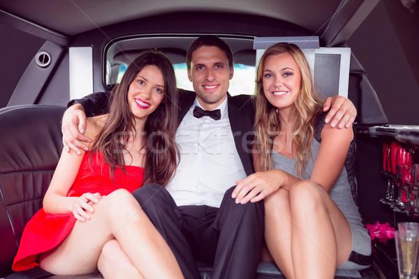 Güzel kızlar kadınlar adam limuzin Stok fotoğraf © wavebreak_media