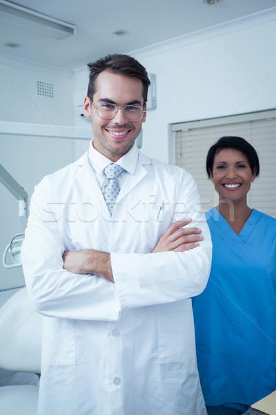 Portrait of smiling dentists Stock photo © wavebreak_media