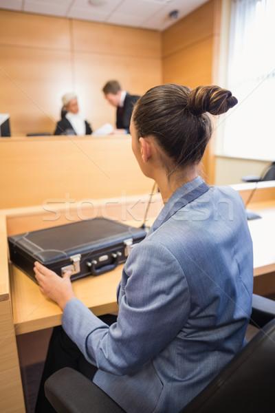 Advocaat luisteren rechter rechter kamer recht Stockfoto © wavebreak_media