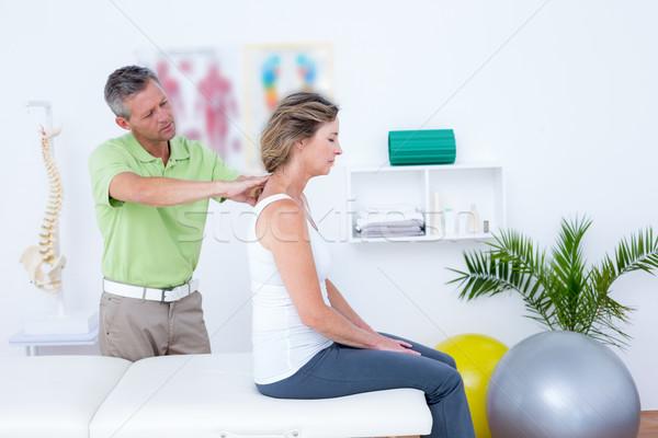Arts Maakt een reservekopie medische kantoor gezondheid Stockfoto © wavebreak_media