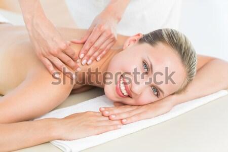 Dość masażu kobieta Zdjęcia stock © wavebreak_media