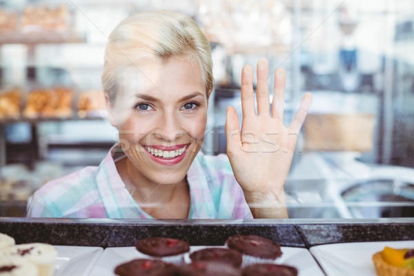 きれいな女性 挨拶 ベーカリー 幸せ にログイン ストックフォト © wavebreak_media