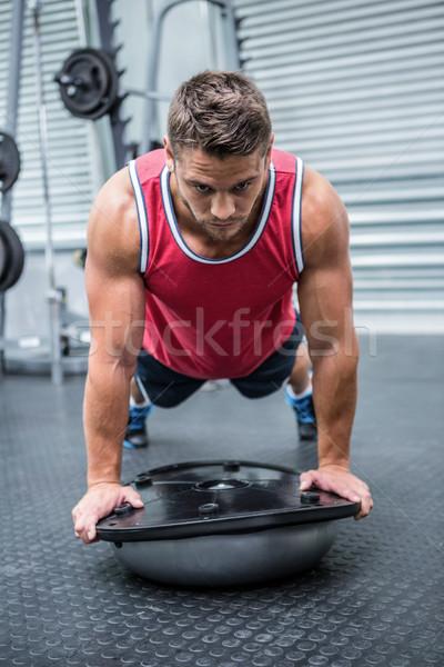 Kas adam top crossfit spor salonu sağlık Stok fotoğraf © wavebreak_media