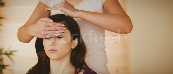 Foto d'archivio: Reiki · trattamento · terapia · stanza · donna