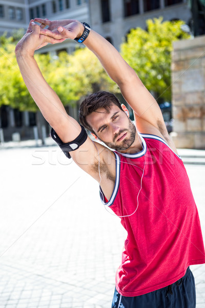 Guapo atleta armas retrato Foto stock © wavebreak_media