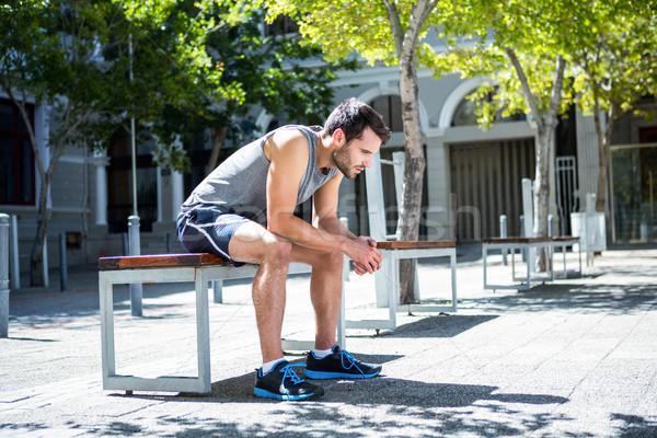疲れ果てた 選手 ベンチ 市 ストックフォト © wavebreak_media