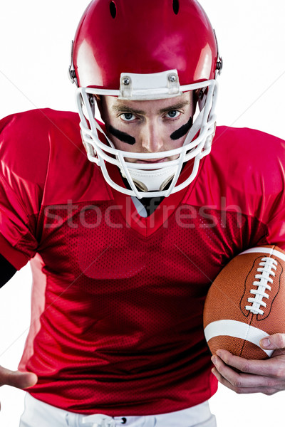 Retrato centrado americano futbolista listo atacar Foto stock © wavebreak_media
