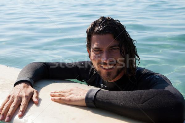 ファー サーフボード 海 肖像 笑みを浮かべて ストックフォト © wavebreak_media