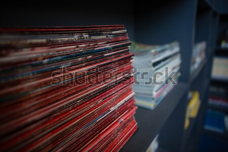 Stack of books on shelf at school Stock photo © wavebreak_media