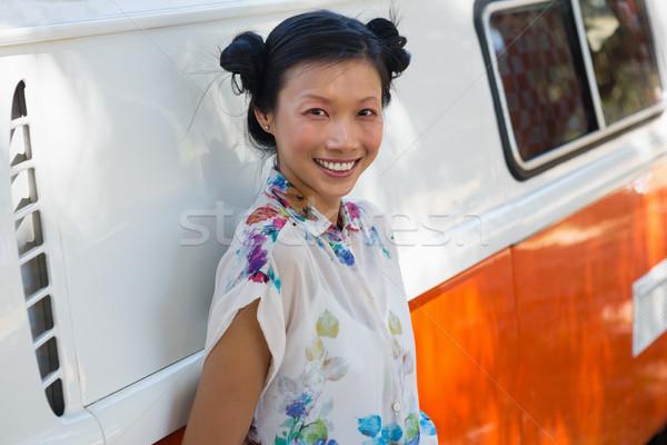Femme van parc portrait Photo stock © wavebreak_media