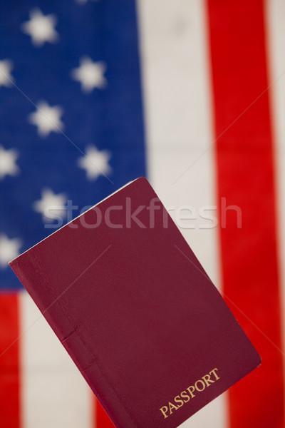 Pasaporte bandera de Estados Unidos primer plano seguridad azul viaje Foto stock © wavebreak_media