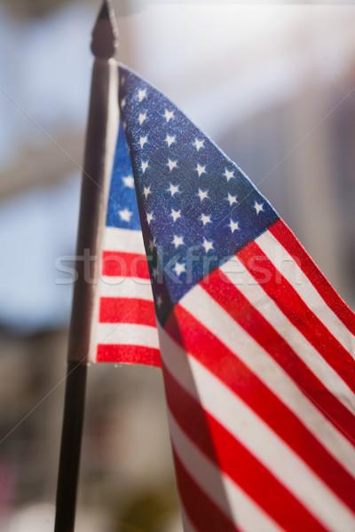 Amerykańską flagę restauracji lata niebieski podróży Zdjęcia stock © wavebreak_media